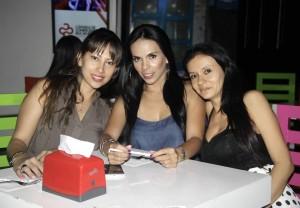 Sandra Gómez, Leyni Claude Hernández y Maribel Hernández