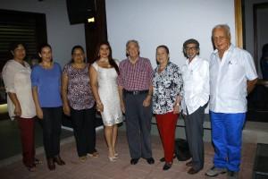 Flor María Rojo, Angie Mur, Claudia Patricia León Patiño, Carmen Elisa León Patiño, Edmundo Gavassa, Ema Cortez de Gavassa, Pedro Emilio Gamboa y Saúl Mesa Arenas.