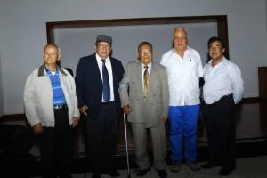 José M. Flórez Galvis, Héctor Hernández Mateus, Luis Bibiano Forero, Saúl Mesa y Heriberto Cáceres
