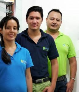 Stephanie Katherine Medina Vargas, Jeffrey Felizzola Tapia y Dorián Rallón