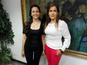 Yuly Paola Medina y Olga Yabur