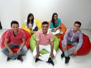 Silvia Amorocho, Paola Quiñónez, Orlinson Amado, Carlos Mario Flórez y Juan Carlos Gómez.