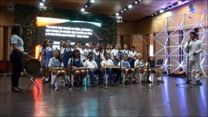 Las presentaciones artísticas también hicieron parte de las estrategias de los colegios para reflexionar sobre la paz. - Suministrada / GENTE DE CABECERA