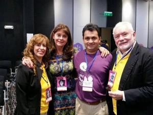 Paula Piñeros, Martha Lucía Ramírez, Nelson Prieto y Gustavo Sorzano