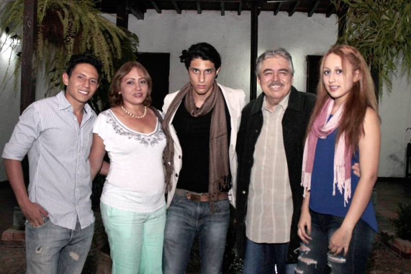 Daniel Solano, Claudia Patricia Córdoba, Lucas Solano, Víctor Ricardo Solano y Sarith Carolina Solano. - Fabián Hernández /GENTE DE CABECERA