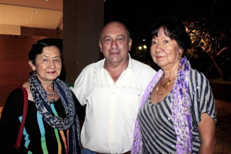 Beatriz Hernández, Abelardo Pineda y Cecilia Hernández. - Fabián Hernández /GENTE DE CABECERA
