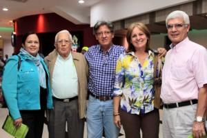 Claudia Patricia Rincón, Augusto Rincón, Ciro Galvis, Susana Galvis y Álvaro Serrano