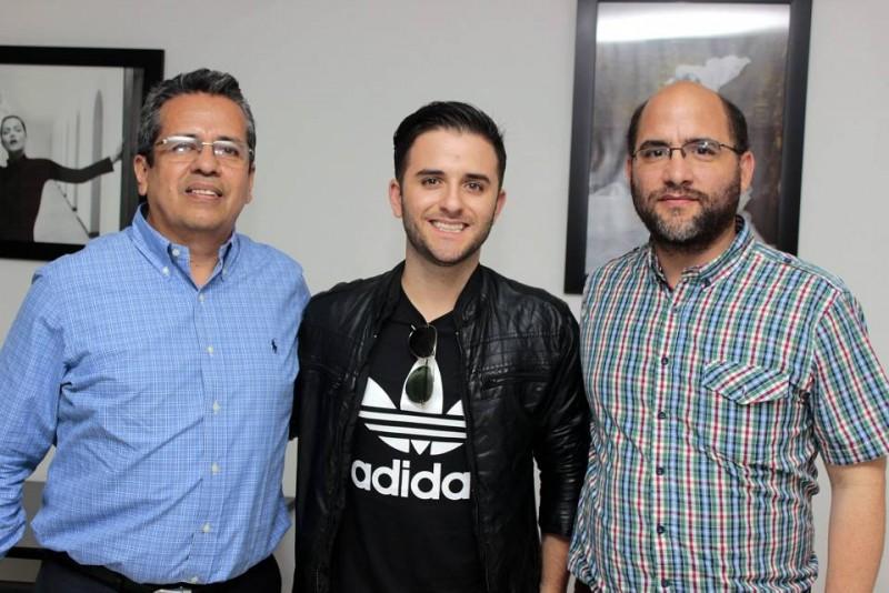 Wilson Cáceres, Juan Manuel Barrientos y Santiago Gómez. - Fabián Hernández/GENTE DE CABECERA