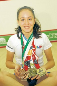 Cinco medallas de oro y cuatro de bronce suma Lucía a sus triunfos. - César Flórez / GENTE DE CABECERA