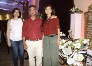 María Nelly Otero, Henry Ortega Martínez y Aura Elisa Arias