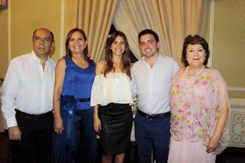 Luis Fernando Rocha, Leonor Vargas de Rocha, María Alejandra Rocha, Daniel Rubio y Consuelo Mejía de Rubio. - Fabián Hernández/GENTE DE CABECERA