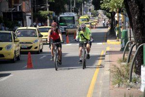 En la cra 27 se habilitaron carriles exclusivos para bicicletas