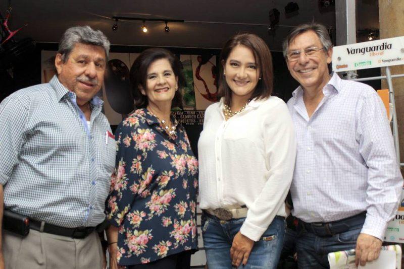 Gerardo Luna, Marlén de Peña, Claudia Peña y Joaquín González. - Fabián Hernández/GENTE DE CABECERA