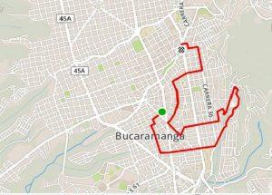 El recorrido inicia en el Parque Turbay y consta de 7 km aproximadamente. - Suministrada/GENTE DE CABECERA