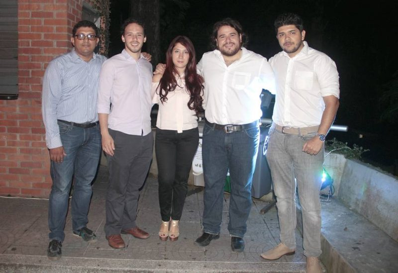 César Galvis, Nicolás Durán, Alejandra Contreras, Édgar Mantilla y Andrés Castro. - Javier Gutiérrez/GENTE DE CABECERA