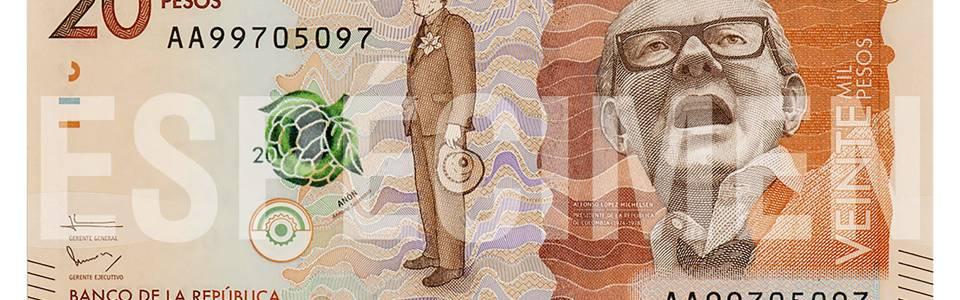 Verifique el nuevo billete de 20 mil pesos