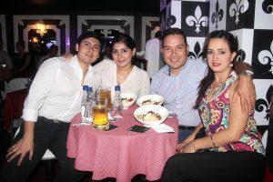 Jimmy Gómez, Marly Camargo, Iván Amaya y Andrea Díaz