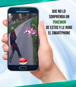 La Policía Nacional previene sobre el robo de celulares debido al popular juego. - Tomada de Twitter/GENTE DE CABECERA