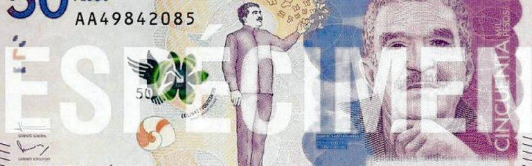El billete destaca la imagen de Gabriel García Márquez y las mariposas amarillas.