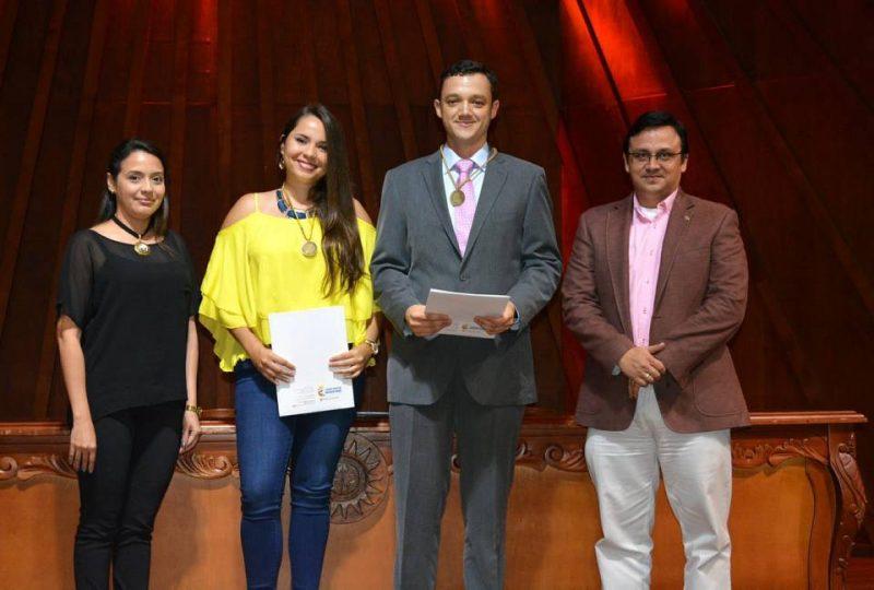 Dolly Smith Flórez Moreno, Lizeth Vanessa Arango Cardozo, Iván Guillermo Gómez Serna y Fabio Andrés Lizcano. - Suministrada/GENTE DE CABECERA
