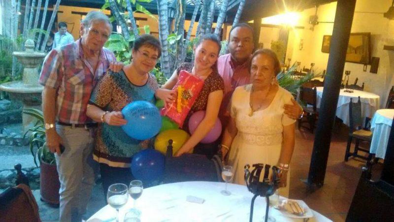 Jairo Valencia, Blanca Montañez, Dayana Valencia, Danny Sandoval y Ligia Rojas. - Suministrada/GENTE DE CABECERA