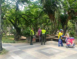 Aunque los operativos en el Parque San Pío son permanentes, mensualmente se intensifican las campañas de prevención e información. - Suministrada/GENTE DE CABECERA