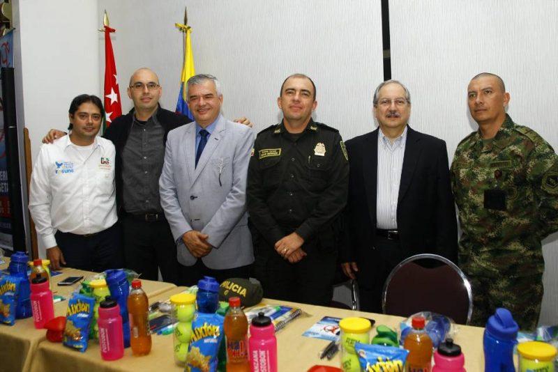 Carlos Alberto Díaz, Óscar Lozano, Ciro Solano, Coronel César Buitrago, Víctor Castillo y Teniente Coronel Alejandro Lucero. - César Flórez/GENTE DE CABECERA