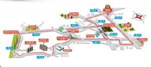 Estas son las vías donde habrá paso restringido desde las 9:00 a.m. y hasta las 11:00 a.m. aproximadamente. - Suministrada/GENTE DE CABECERA