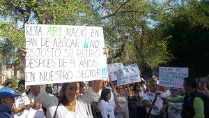 La comunidad de Pan de Azúcar ha realizado diversas manifestaciones públicas en rechazo a los cambios en la ruta AB1. - Archivo/GENTE DE CABECERA