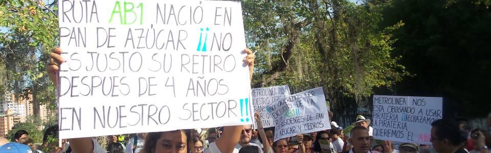 La comunidad de Pan de Azúcar ha realizado diversas manifestaciones públicas en rechazo a los cambios en la ruta AB1