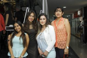 María Mercedes Porras, Laura Archbold, Jesica Paola Carrascal y Nancy Moreno