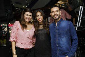 Diana Romero, Laura Archbold y Álvaro Sánchez
