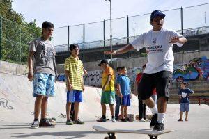 Más de 50 niños y jóvenes se forman actualmente en la escuela Skate por la vida. - Archivo/GENTE DE CABECERA