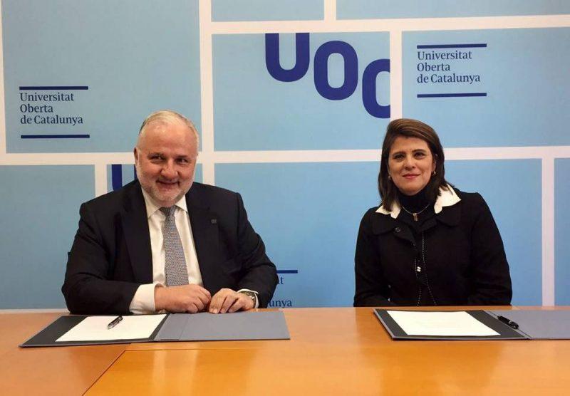Los rectores de ambas universidades, Josep A. Planell y Maritza Rondón Rangel. - Suministrada/GENTE DE CABECERA