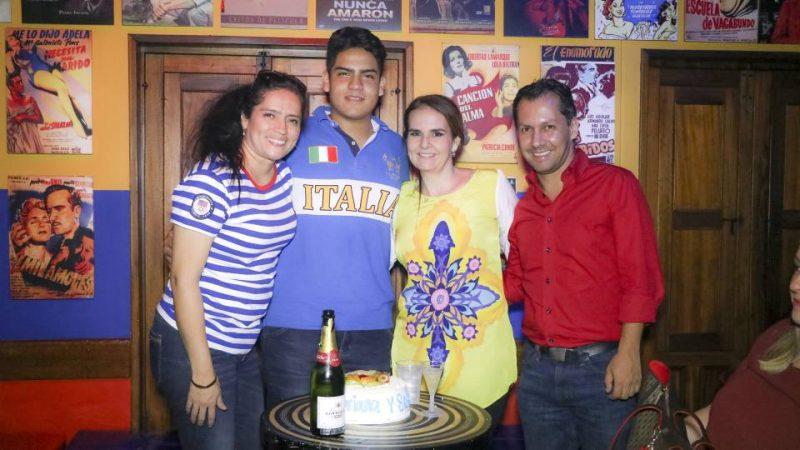 Adriana Bárcenas, Sebastián Reyes, María Adelaida García y Mauricio Pinzón. - Suministrada/GENTE DE CABECERA