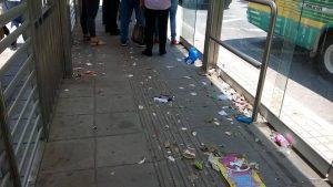 Usuarios de la estación de Metrolínea solicitan mayor cuidado y aseo de este espacio. - Suministrada/GENTE DE CABECERA