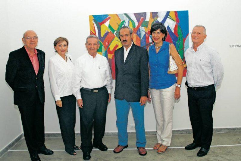 Marlio Gómez, Maria Hortencia de Alarcón, Alberto Alarcón, Fernando Liévano Alarcón, Claudia Liévano Turbay y José Pablo Ortiz Plata. - César Flórez/GENTE DE CABECERA
