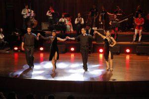 Bailarines de la compañía artística Pedro Pablo Studio Tango de la ciudad de Bucaramanga. - Suministrada/GENTE DE CABECERA
