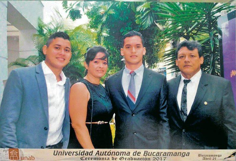 Dennis Julián Cepeda González, Constanza González Arango, Juan Sebastián Cepeda González y Julio Dennis Cepeda Castro. - Suministrada/GENTE DE CABECERA