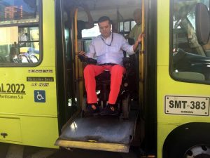 Los buses acondicionados para las personas con discapacidad cuentan con rampas y ascensores.  - Suministrada/GENTE DE CABECERA