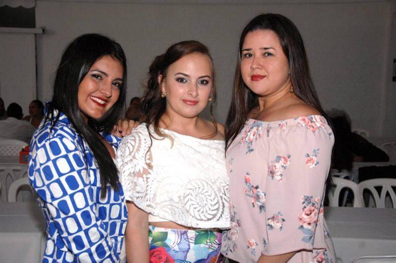 Cindy Hernández, Margareth Corredor y Nikoll Corredor. - Jaime Del Río/GENTE DE CABECERA
