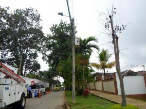 La ESSA realizó ayer los trabajos de reparación. - Suministrada/GENTE DE CABECERA