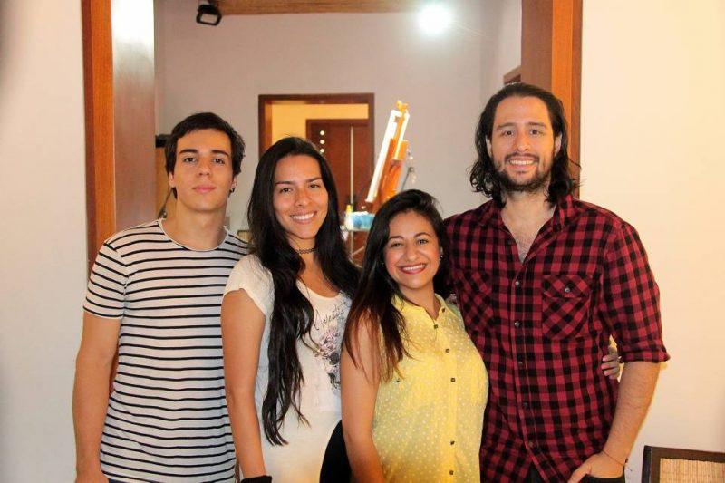Juan Pablo Estrada, Natalia López, Mayi Puentes y Felipe Villamizar. - Elver Rodríguez/GENTE DE CABECERA