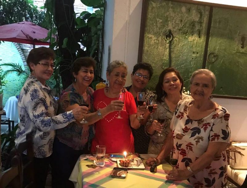 Martha Isabel Ballesteros, Gliselda Orduz, Emma Badillo, Nelly Centeno, Ana Borda y Ester Ballesteros de Duarte. - Suministrada/GENTE DE CABECERA