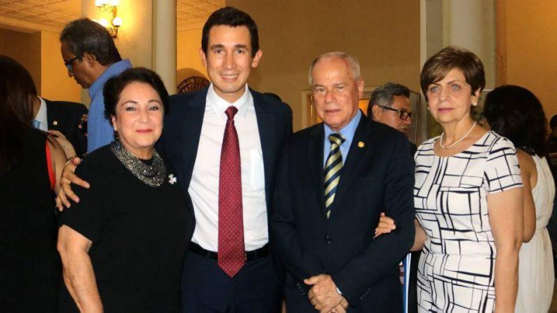 Martha Elva Ortiz de Cavanzo, José David Cavanzo, Miguel José Pinilla Gutiérrez y María Mercedes Valdivieso de Pinilla. - Fabián Hernández/GENTE DE CABECERA