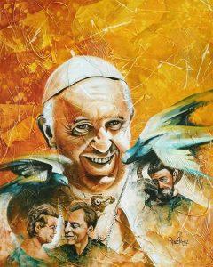 """""""Visionario por la Paz"""" es el nombre del retrato que ilustra la paz, la institución de la familia y la armonía.  - Suministrada/GENTE DE CABECERA"""