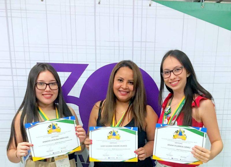 Jenifer Pardo, Leidy Silvana Chacón Velasco y Ariana Villareal. - Suministrada/GENTE DE CABECERA