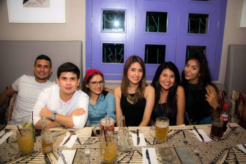 Andrés Arrieta, Andrés Santafé, Irayma Ramírez, Xiomara Barbosa, Evelin Barbosa y Paola Peña. - Élver Rodríguez/GENTE DE CABECERA