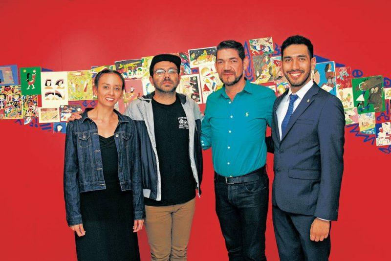 Aura Bautista, Jim Pluk, Ciro Caballero y Julián Vargas Hernández. - César Flórez/GENTE DE CABECERA
