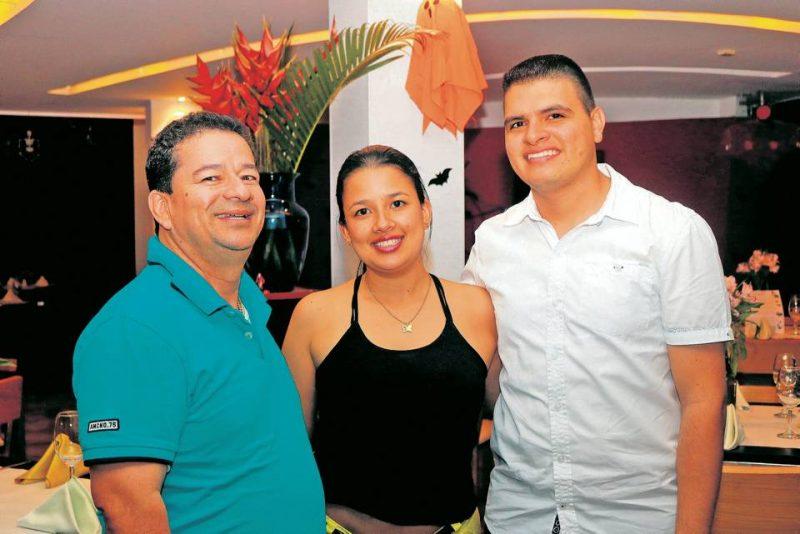 Hernando Serrano, Deisy Jazmín Serrano y Diego Lagos. - Fabián Hernández / GENTE DE CABECERA